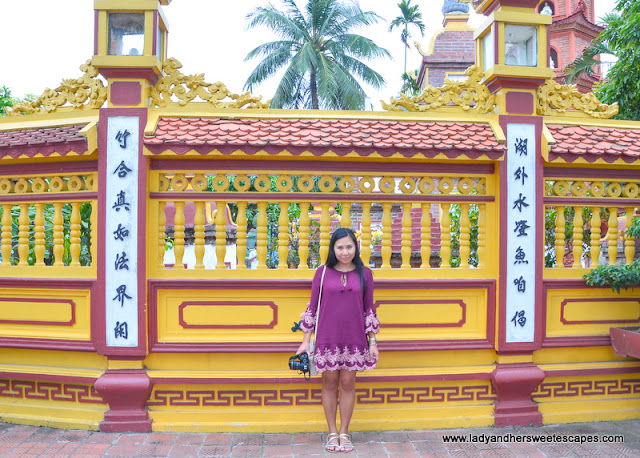 Lady at Tran Quoc Pagoda