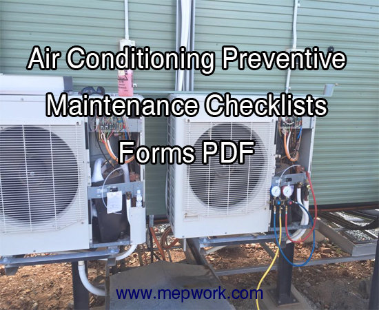 Air Conditioning Preventive Maintenance Checklists Forms PDF