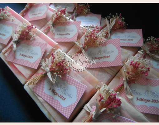 jabones personalizados para souvenirs