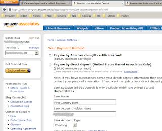 Cara Setting Amazon Payment Payooner + Gratis Kartu Payoneer