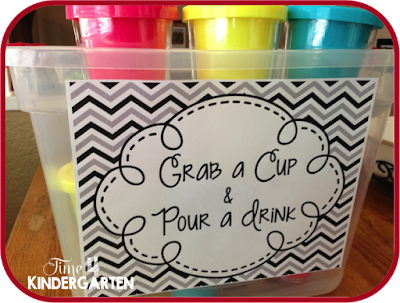 Serve guests their drinks in fun bright colored plastic insulated cups.