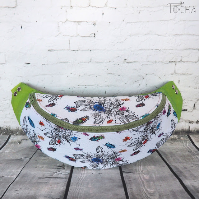 #innywymiarszycia, bugs, beetle, waterproof, fanny bag, bum bag, hip bag, Washpapa, spring, flowers,