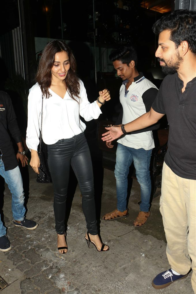 Neha Sharma With Bejoy Nambiar Spotted At Silver Beach Cafe