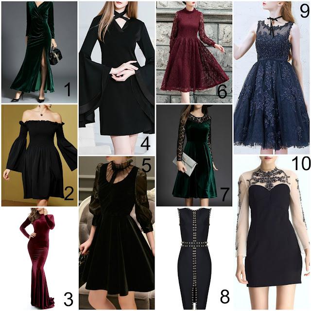 goth winter holiday dresses
