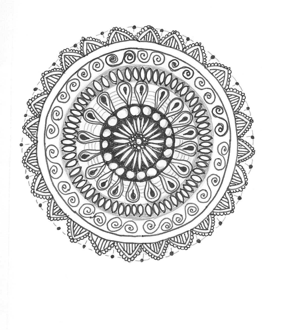 Images of Simple Zentangle Flowers - #rock-cafe