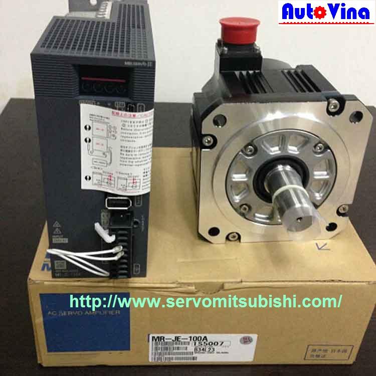 Tổng đại lý phân phối động cơ, bộ điều khiển AC Servo MR-JE-100A Mitsubishi, động cơ Motor HG-SN102J / HG-SN102BJ
