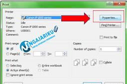 Cara Print Ukuran Kertas F4 Di Excel