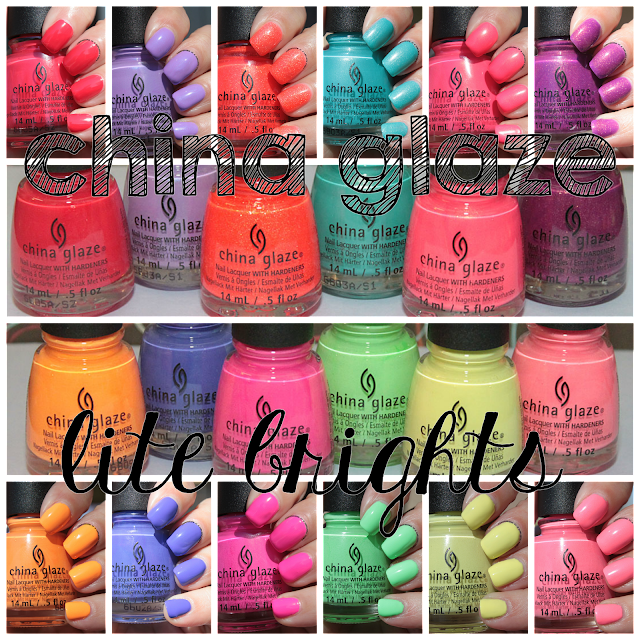 China Glaze Lite Brites collection