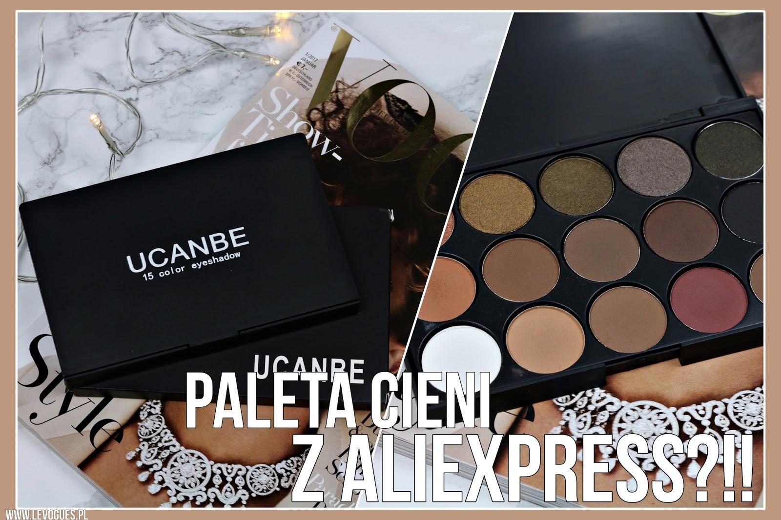 paleta cieni kosmetyki z aliexpress recenzja