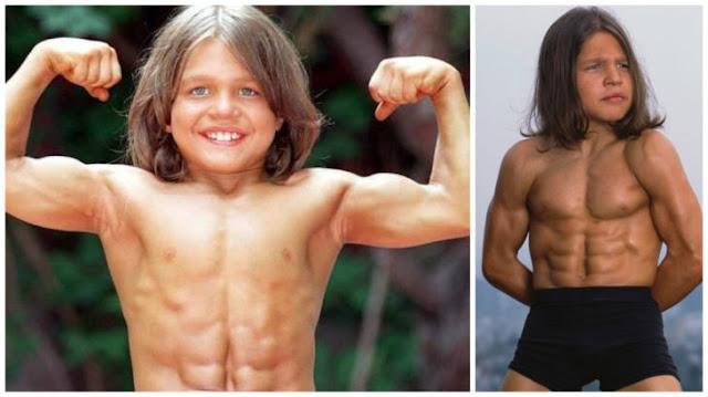El niño más fuerte creció y ya no hace fisicoculturismo