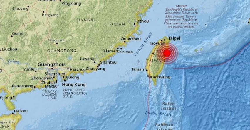 TERREMOTO EN TAIWAN - CHINA de magnitud 6,4 - Alerta de Tsunami (Hoy Martes 6 Febrero 2018) Sismo Temblor EPICENTRO - Hualien - USGS