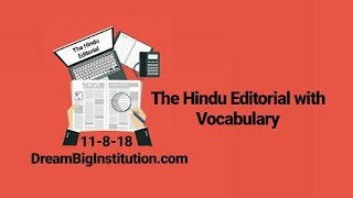 The Hindu Editorial With Important Vocabulary ( 11-8-18)