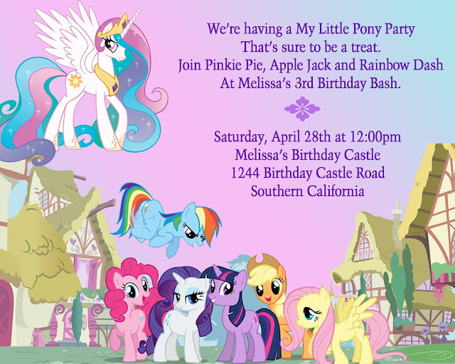 A My Little Pony Birthday Toddler Trails