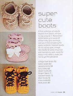 Super Cute Crochet for Little Feet by Vita Apala - pg 49