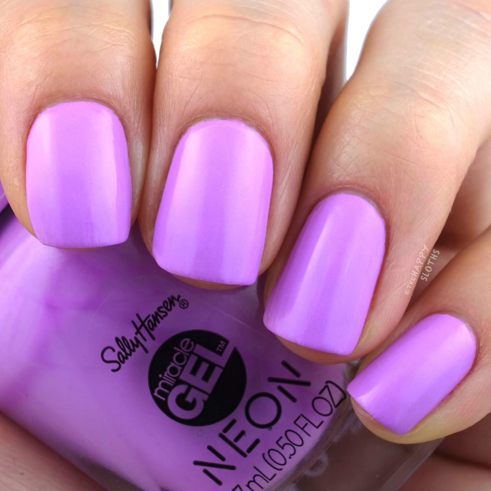 Sally Hansen   Miracle Gel Summer 2019 Neon Collection   Violet Voltage: Review and Swatches
