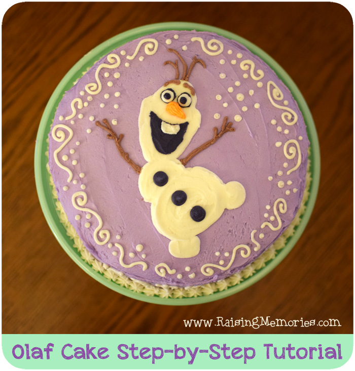 How to Make a Simple Olaf Cake