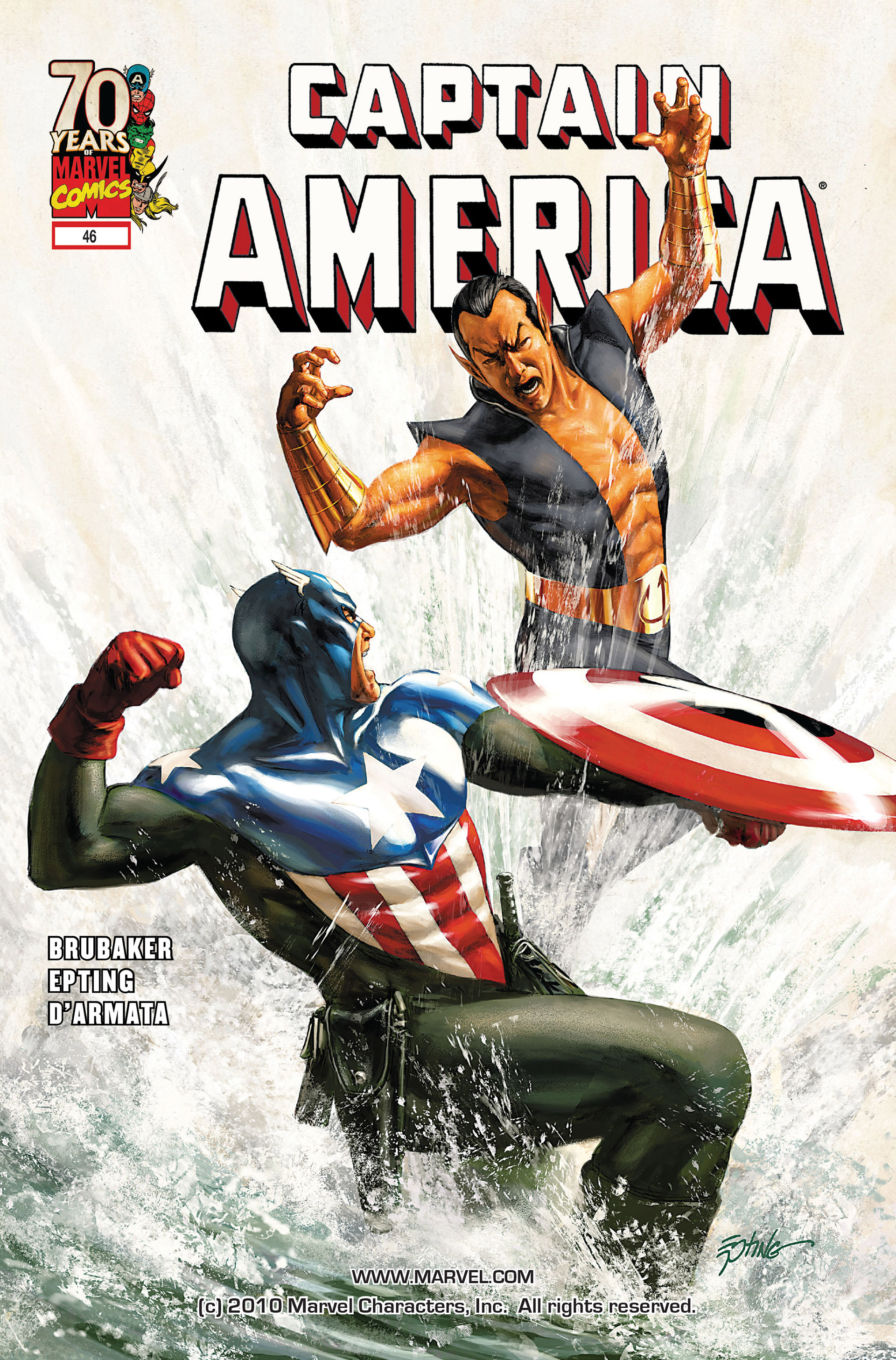 Read online Captain America (2005) comic -  Issue #46 - 1