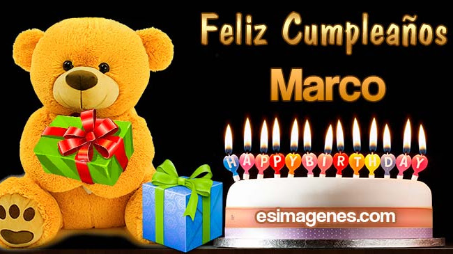 Feliz Cumpleaños Marco