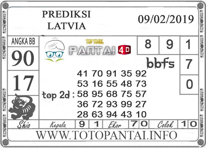 """Prediksi Togel """"LATVIA"""" PANTAI4D 09 FEBRUARI 2019"""