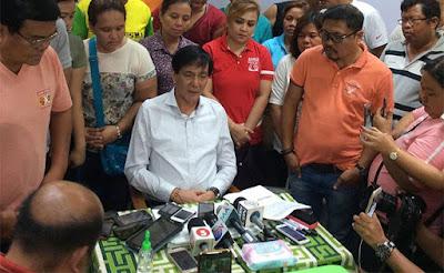 Cebu City Ex-Mayor Michael Rama talks to Cebu media in a press conference