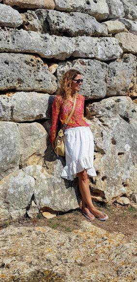 Falda blanca handmade