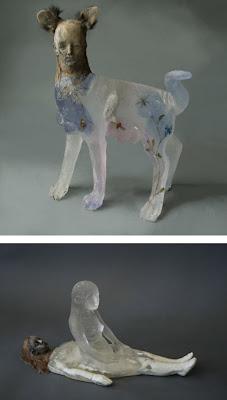 Escultura de vidrio y resina cristal