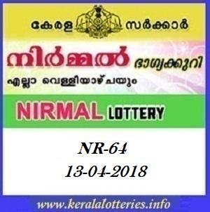 NIRMAL (NR-64) LOTTERY RESULT