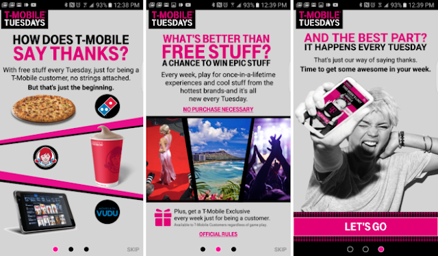 Reminder – Free Stuff on T-Mobile Tuesdays