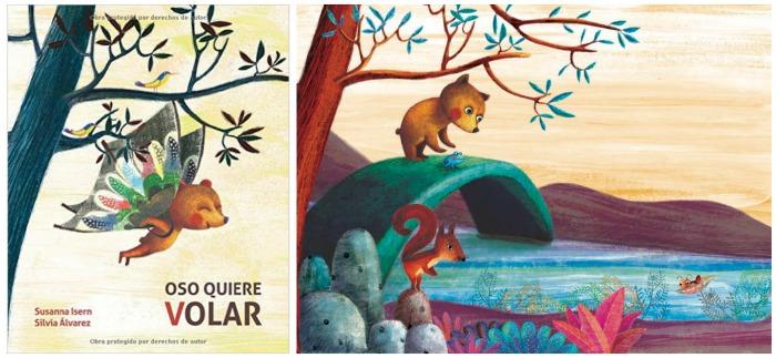 cuentos para enseñar valores niños: oso quiere volar, cooperación, amistad