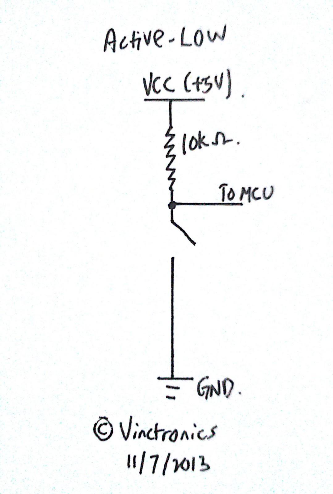 Vinctronics Active High Vs Active Low Button