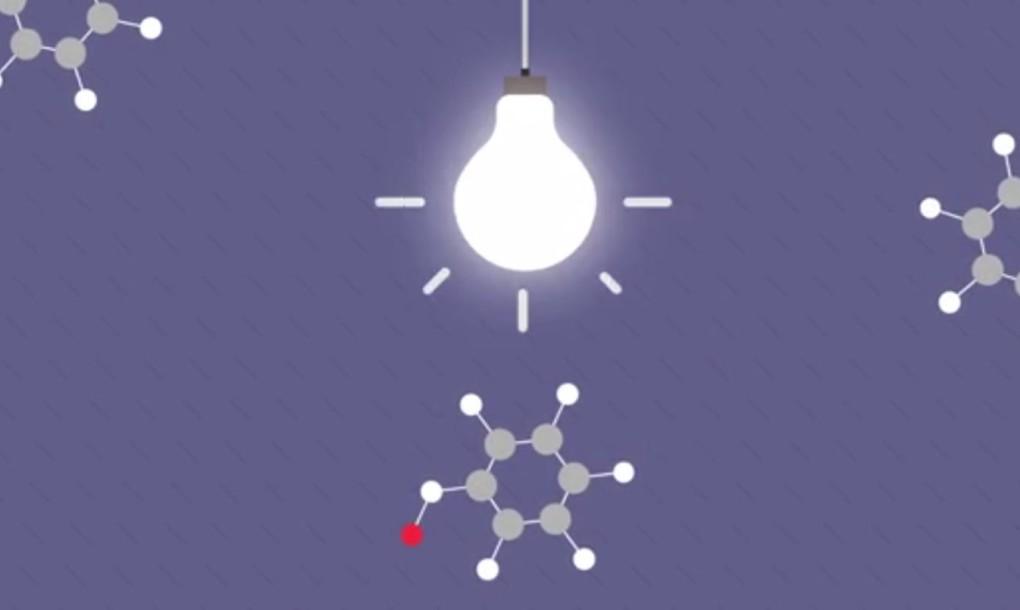 Através de luzes fluorescentes, as partículas de poluição presentes no ar são transformadas em uma poeira que pode ser facilmente removida.