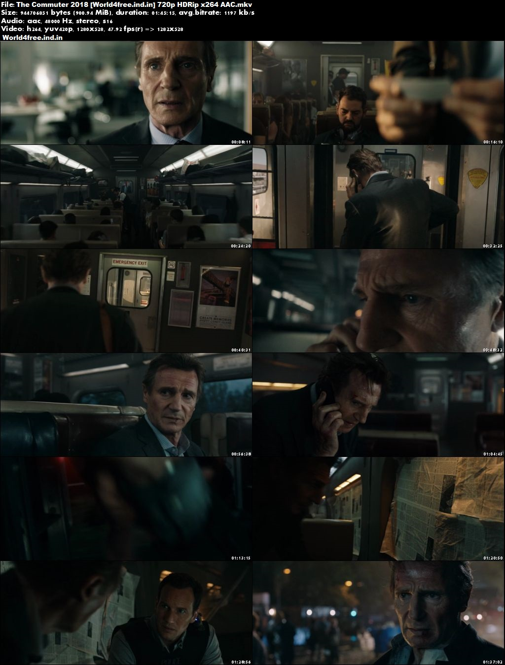 The Commuter 2018 world4free.ind.in Full HDRip 720p English Movie Download