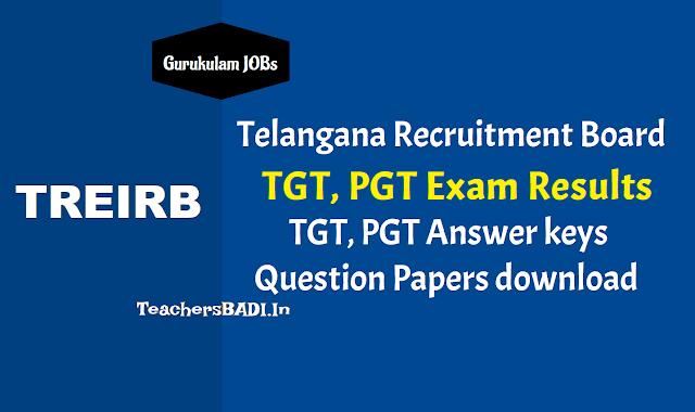 telangana gurukulam tgt,pgt results 2018 download,treirb tgt pgt marks results,pgt tgt selection list results,pgt tgt answer key,pgt tgt results