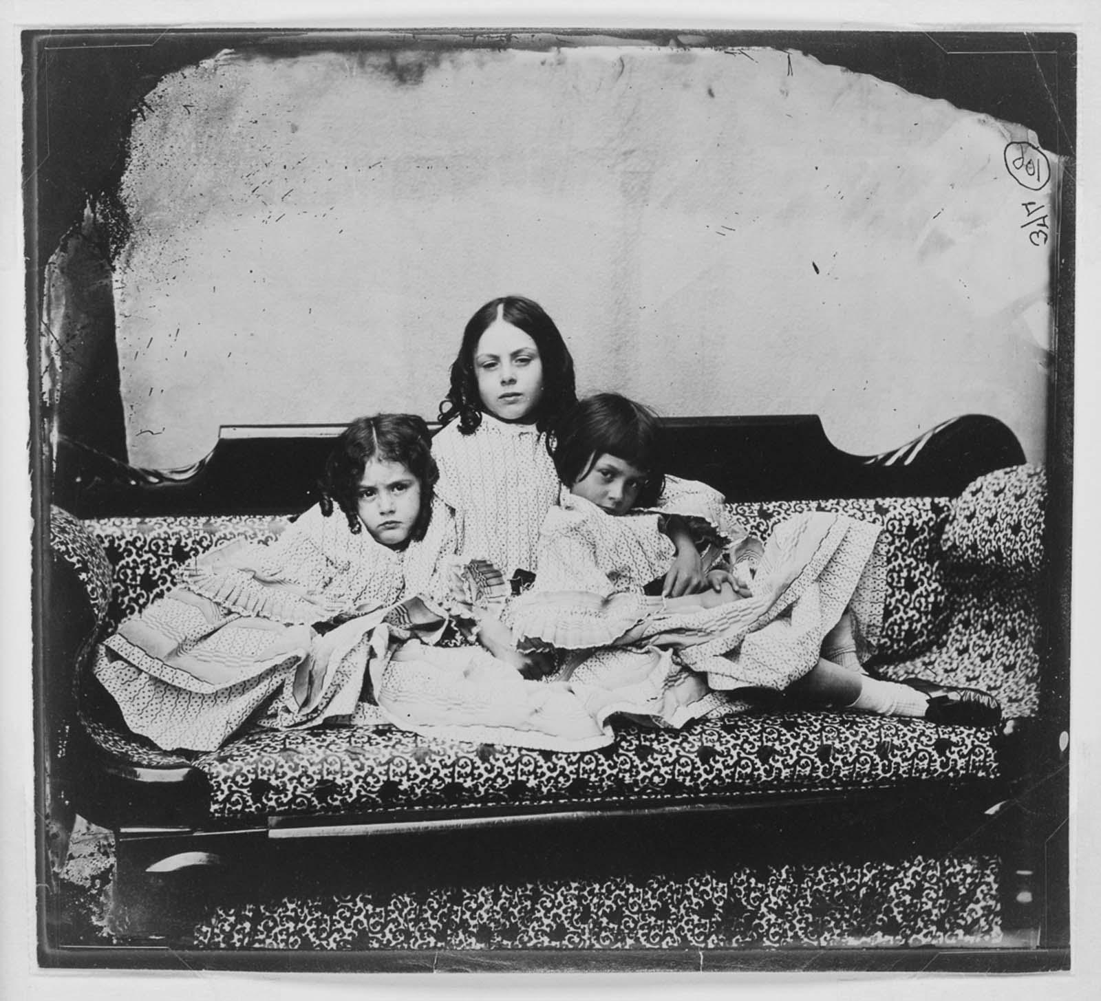 Lorina, Edith and Alice Liddell. 1859.