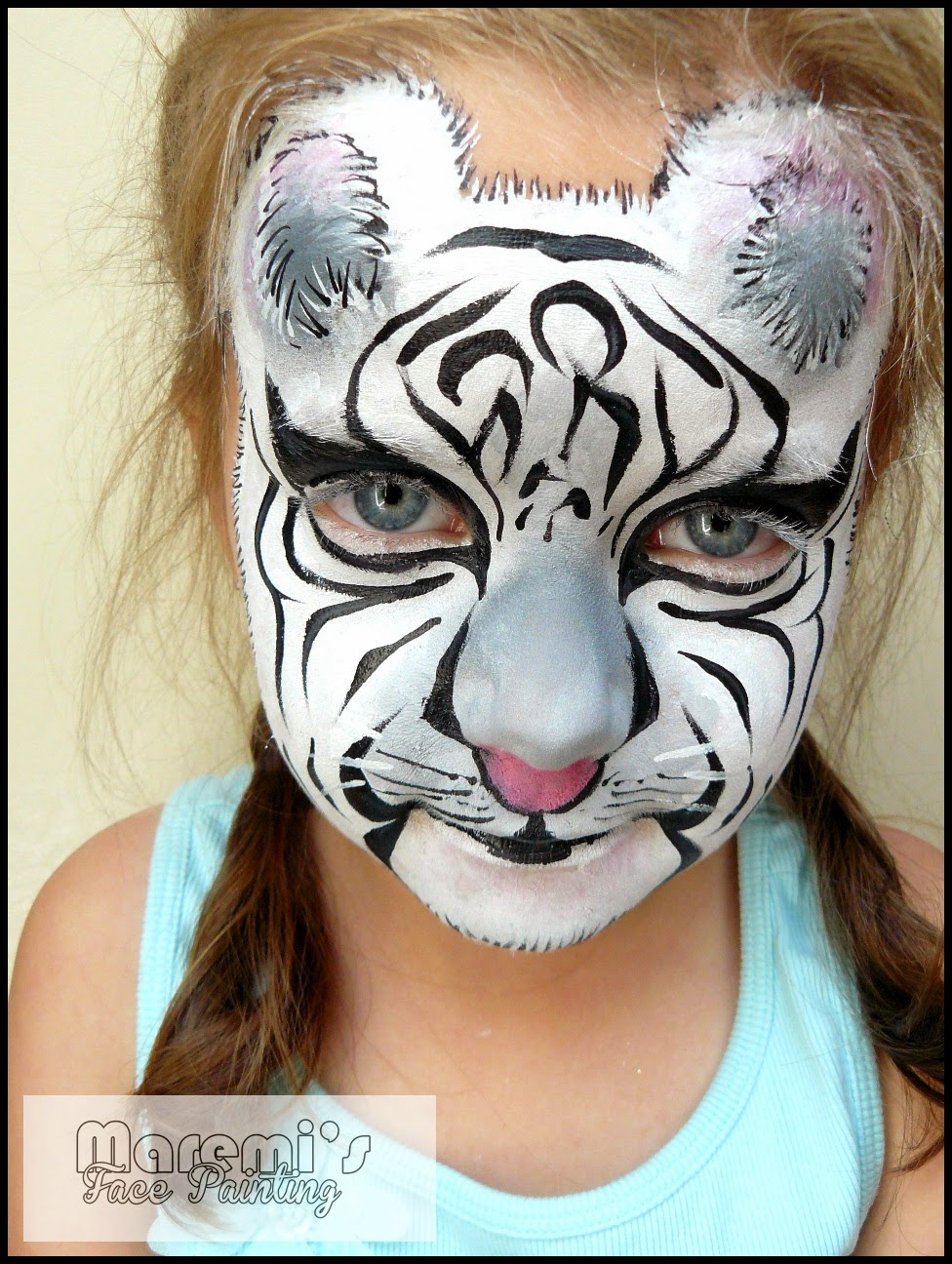 Maremi S Face And Body Painting Malowanie Twarzy Dzieci Bialy Tygrys Face Painting For Kids White Tiger
