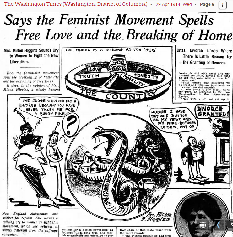 The Chronicle of Cultural Misandry: A Leading Suffragist Says that