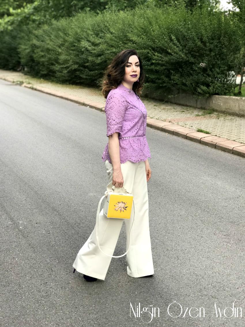 alışveriş-Mor Peplum Bluz-moda blogları-fashion blogger-Çalıkuşu Gümüş Broş