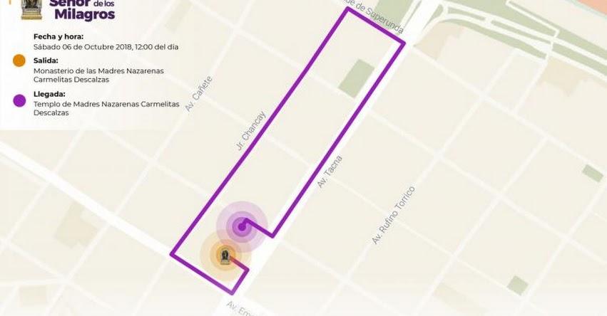 EN VIVO - SEÑOR DE LOS MILAGROS 2018: Primer recorrido de la procesión de hoy sábado 6 de octubre - www.nazarenas.tv