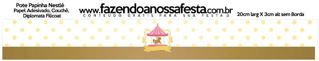 Carousel in Pink: Free Printable Candy Bar Labels.