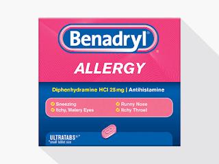 Benadryl (Generic: Diphenhydramine)