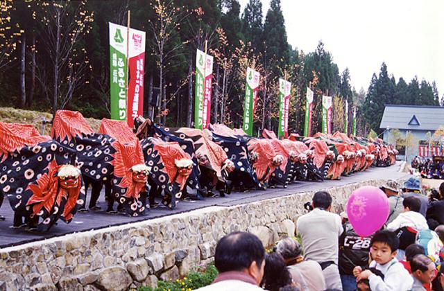 Hidashougawa Furusato Matsuri (autumn festival), Takayama City, Gifu Pref.