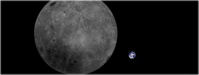 terra e o lado oculto da lua