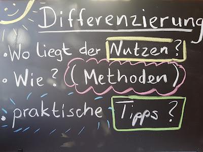 Hier soll es um das Thema Differenzierung gehen, Methoden, Tipps und praktische Umsetzung im Unterricht.