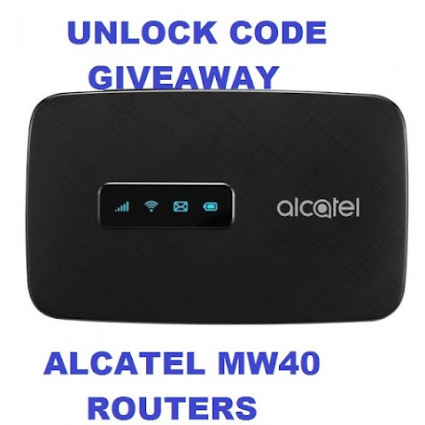 HOT: ALCATEL W40 ROUTER UNLOCK CODE GIVEAWAY.