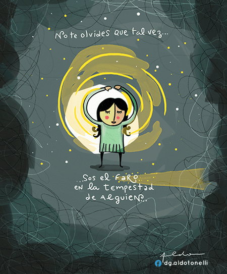 Ilustración con frase - Aldo Tonelli