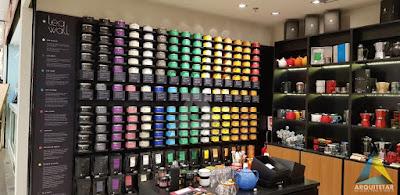 expositor central loja chá armários