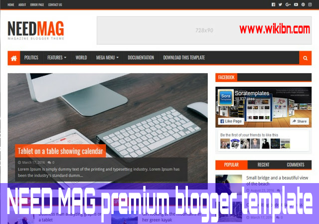 NeedMag Premium Blogger Template  By [WWW.WIKIBN.COM]