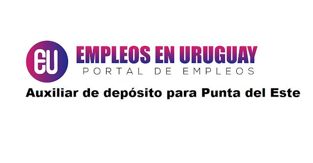 Auxiliar de depósito para Punta del Este