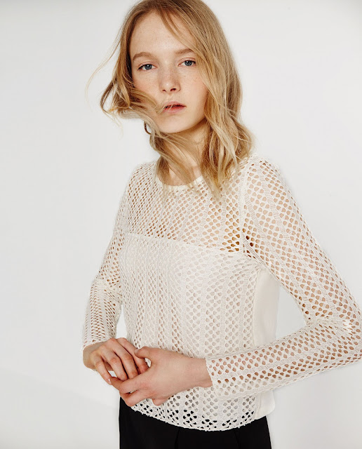 zara open mesh top