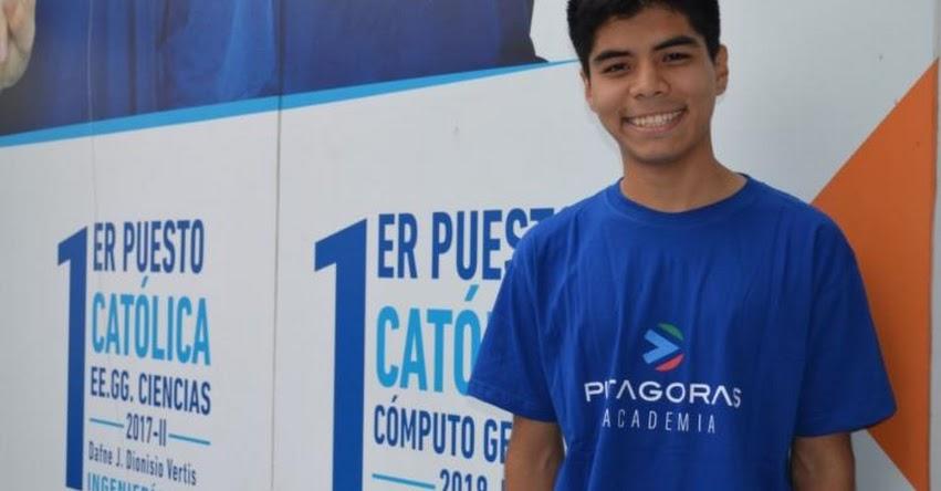 RODRIGO APAZA: Hay que prepararse en todo para la vida, sostiene el Primer Puesto en examen de talentos - PUCP 2019